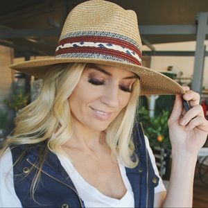 Top It Off Panama Hat w/Double Trim-Natural